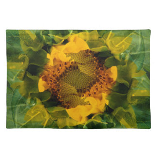 USA, Colorado, Lafayette. Sunflower montage Placemat
