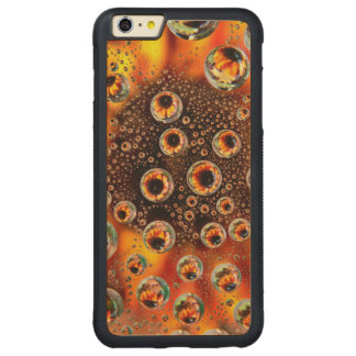 USA, Colorado, Lafayette. Water bubbles on glass 1 Carved Maple iPhone 6 Plus Bumper Case