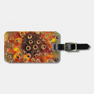USA, Colorado, Lafayette. Water bubbles on glass 1 Luggage Tag