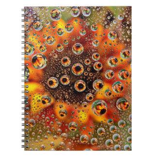USA, Colorado, Lafayette. Water bubbles on glass 1 Spiral Note Books