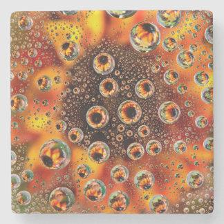 USA, Colorado, Lafayette. Water bubbles on glass 1 Stone Coaster