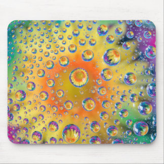 USA, Colorado, Lafayette. Water bubbles on glass 2 Mouse Pad