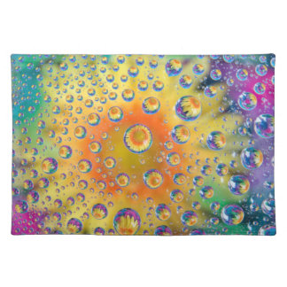 USA, Colorado, Lafayette. Water bubbles on glass 2 Placemat