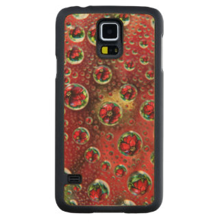 USA, Colorado, Lafayette. Water bubbles on glass 3 Carved Maple Galaxy S5 Case