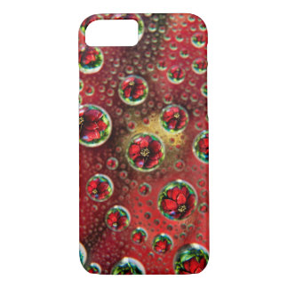 USA, Colorado, Lafayette. Water bubbles on glass 3 iPhone 8/7 Case