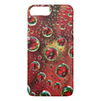 USA, Colorado, Lafayette. Water bubbles on glass 3 iPhone 8 Plus/7 Plus Case