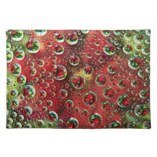 USA, Colorado, Lafayette. Water bubbles on glass 3 Placemat