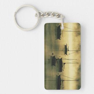 USA, Colorado, Lake Dillon.  The early morning Double-Sided Rectangular Acrylic Key Ring