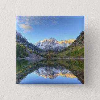 USA, Colorado, Maroon Bells-Snowmass 15 Cm Square Badge