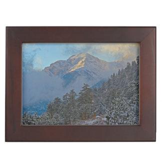 USA, Colorado, Mountains In Estes Park Keepsake Box