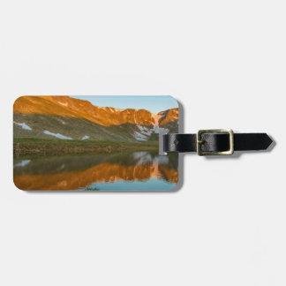 USA, Colorado, Mt. Evans. Summit Lake Reflection Bag Tag
