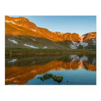 USA, Colorado, Mt. Evans. Summit Lake Reflection Postcard