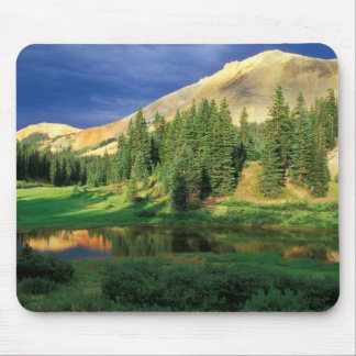 USA, Colorado. Red Mountain at sunset Mouse Mat