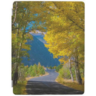 USA, Colorado. Road Flanked By Aspens iPad Cover