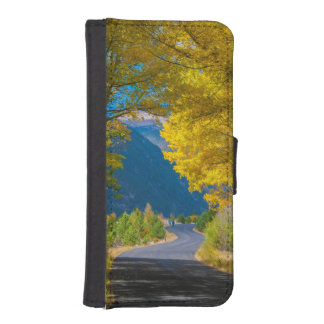 USA, Colorado. Road Flanked By Aspens iPhone SE/5/5s Wallet Case