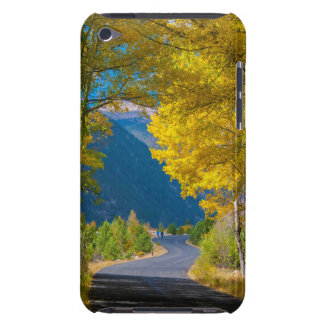 USA, Colorado. Road Flanked By Aspens iPod Touch Covers