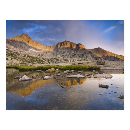 USA, Colorado, Rocky Mountain NP. Storm clouds Postcard