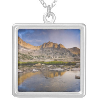 USA, Colorado, Rocky Mountain NP.  Storm clouds Silver Plated Necklace