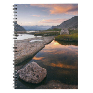 USA, Colorado, Rocky Mountain NP.  Sunrise in Notebook