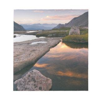 USA, Colorado, Rocky Mountain NP.  Sunrise in Notepad