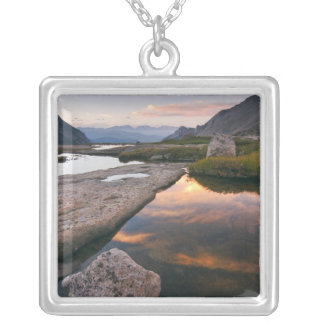 USA, Colorado, Rocky Mountain NP.  Sunrise in Silver Plated Necklace
