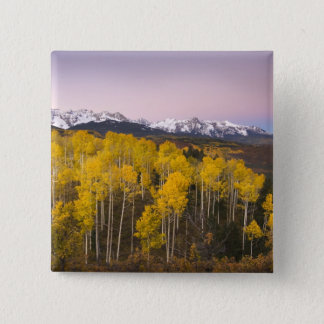 USA, Colorado, Rocky Mountains.  Dawn in the San 15 Cm Square Badge