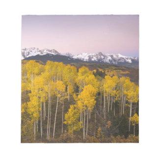 USA, Colorado, Rocky Mountains.  Dawn in the San Notepad