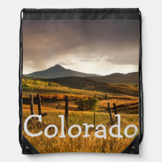 USA, Colorado, San Juan Mountains Drawstring Bag