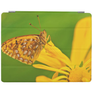 USA, Colorado. Skipper butterfly on sunflower iPad Cover