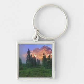 USA, Colorado, Snowmass Wilderness Silver-Colored Square Key Ring