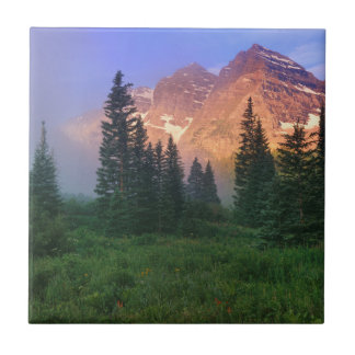 USA, Colorado, Snowmass Wilderness Small Square Tile