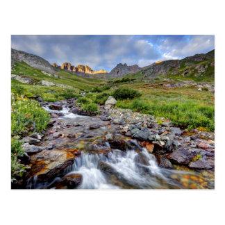 USA, Colorado. Sunrise On Stream 2 Postcard