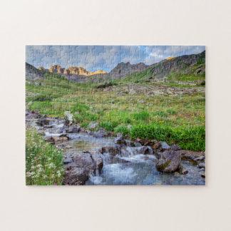 USA, Colorado. Sunrise On Stream Jigsaw Puzzle