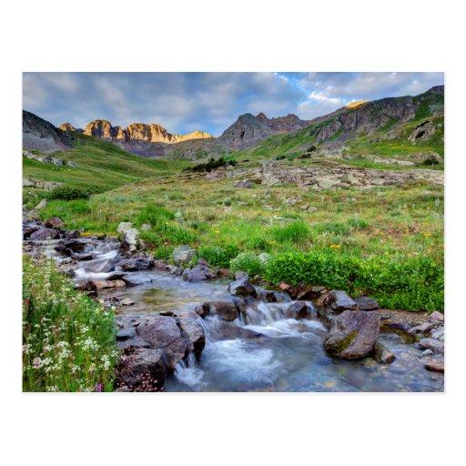 USA, Colorado. Sunrise On Stream Post Card