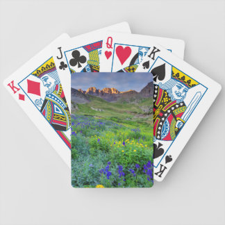 USA, Colorado. Sunrise On Wildflowers Bicycle Playing Cards