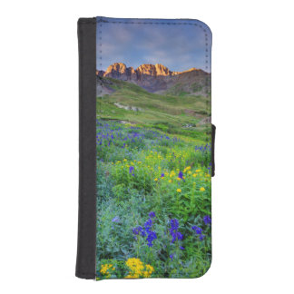 USA, Colorado. Sunrise On Wildflowers iPhone SE/5/5s Wallet Case