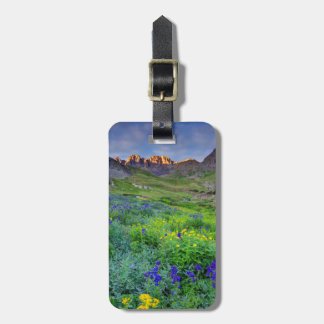 USA, Colorado. Sunrise On Wildflowers Luggage Tag