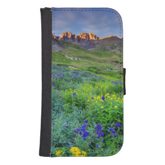 USA, Colorado. Sunrise On Wildflowers Samsung S4 Wallet Case