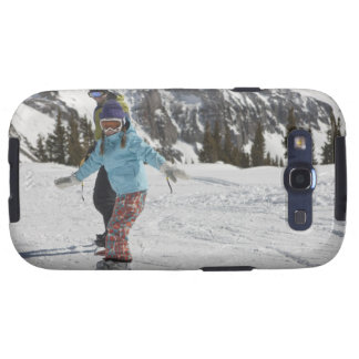 USA, Colorado, Telluride, Father and daughter 2 Samsung Galaxy SIII Cover