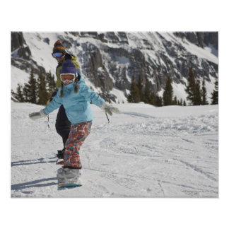 USA, Colorado, Telluride, Father and daughter 2 Poster