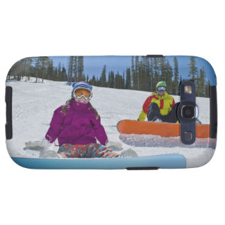 USA, Colorado, Telluride, Father and daughter 3 Samsung Galaxy SIII Covers