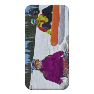 USA, Colorado, Telluride, Father and daughter 3 Cases For iPhone 4