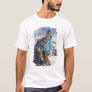 USA, Colorado, Telluride, Father and daughter T-Shirt