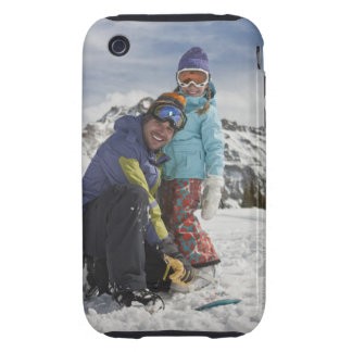 USA, Colorado, Telluride, Father and daughter Tough iPhone 3 Cases