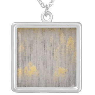 USA, Colorado, White River National Forest. Square Pendant Necklace