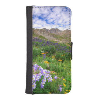 USA, Colorado. Wildflowers In American Basin iPhone SE/5/5s Wallet Case