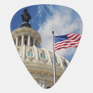 USA, Columbia, Washington DC, Capitol Building Guitar Pick