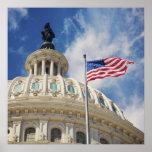USA, Columbia, Washington DC, Capitol Building Poster