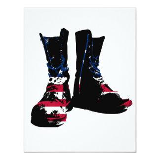 USA Combat Boots 11 Cm X 14 Cm Invitation Card