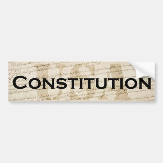 USA Constitution Bumper Sticker